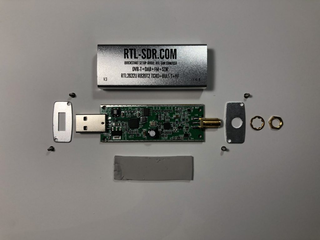 All the components that make up the RTL-SDR