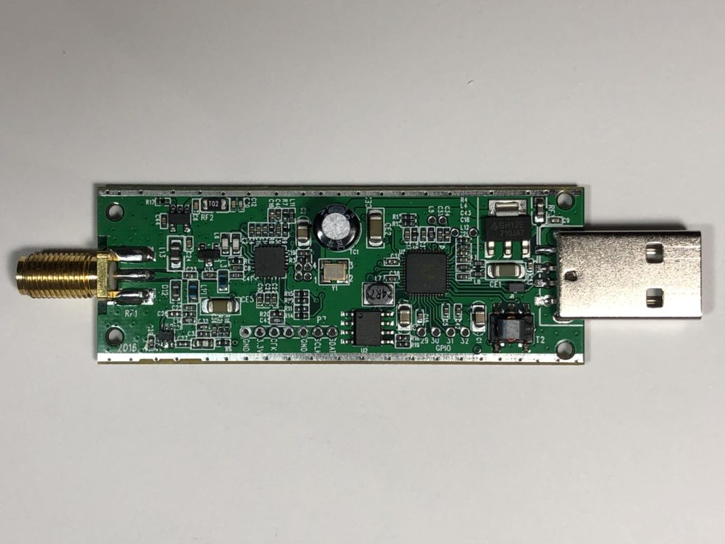 The front of the RTL-SDR PCB