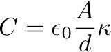 Capacitance Formula