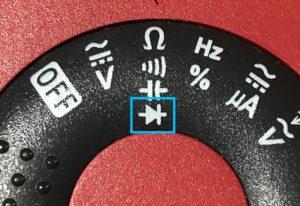 Multimeter diode mode