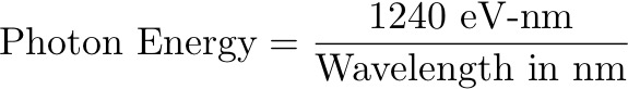 Photon Energy Wavelength, Simplified